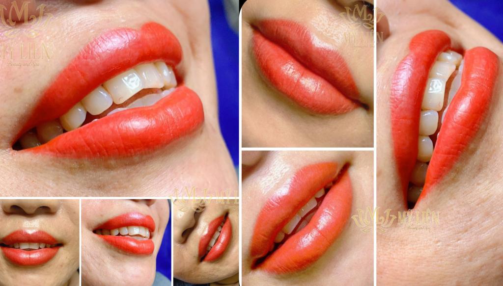 môi đỏ cam
